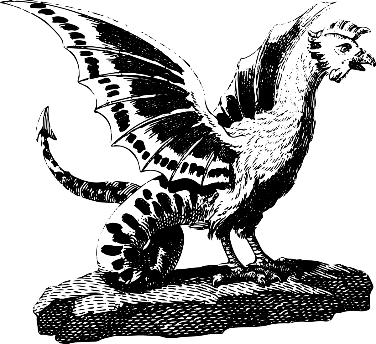 A basilisk is also known as a cockatrice.