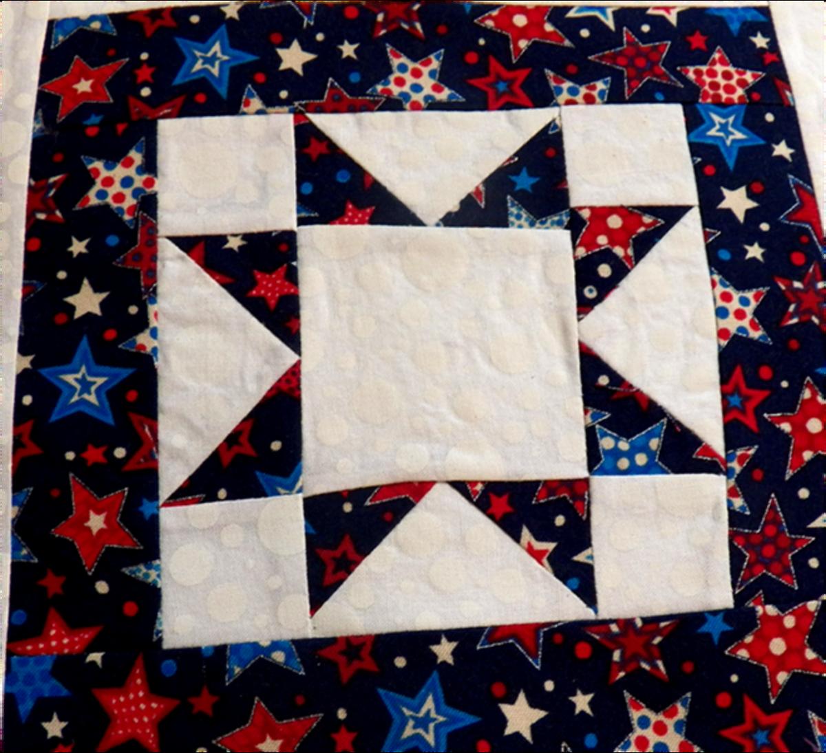 Impressive north star pattern quilt/