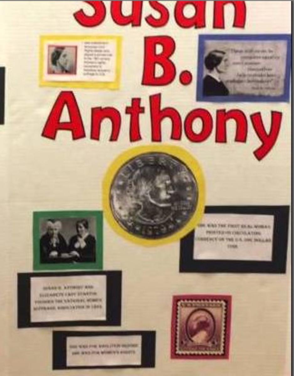 Student biography presentation on Susan B. Anthony