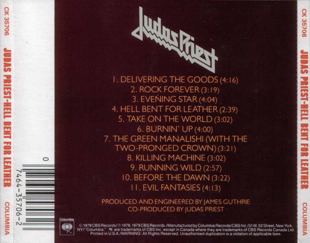 Review of the Album Hell Bent For Leather by British Band Judas Priest