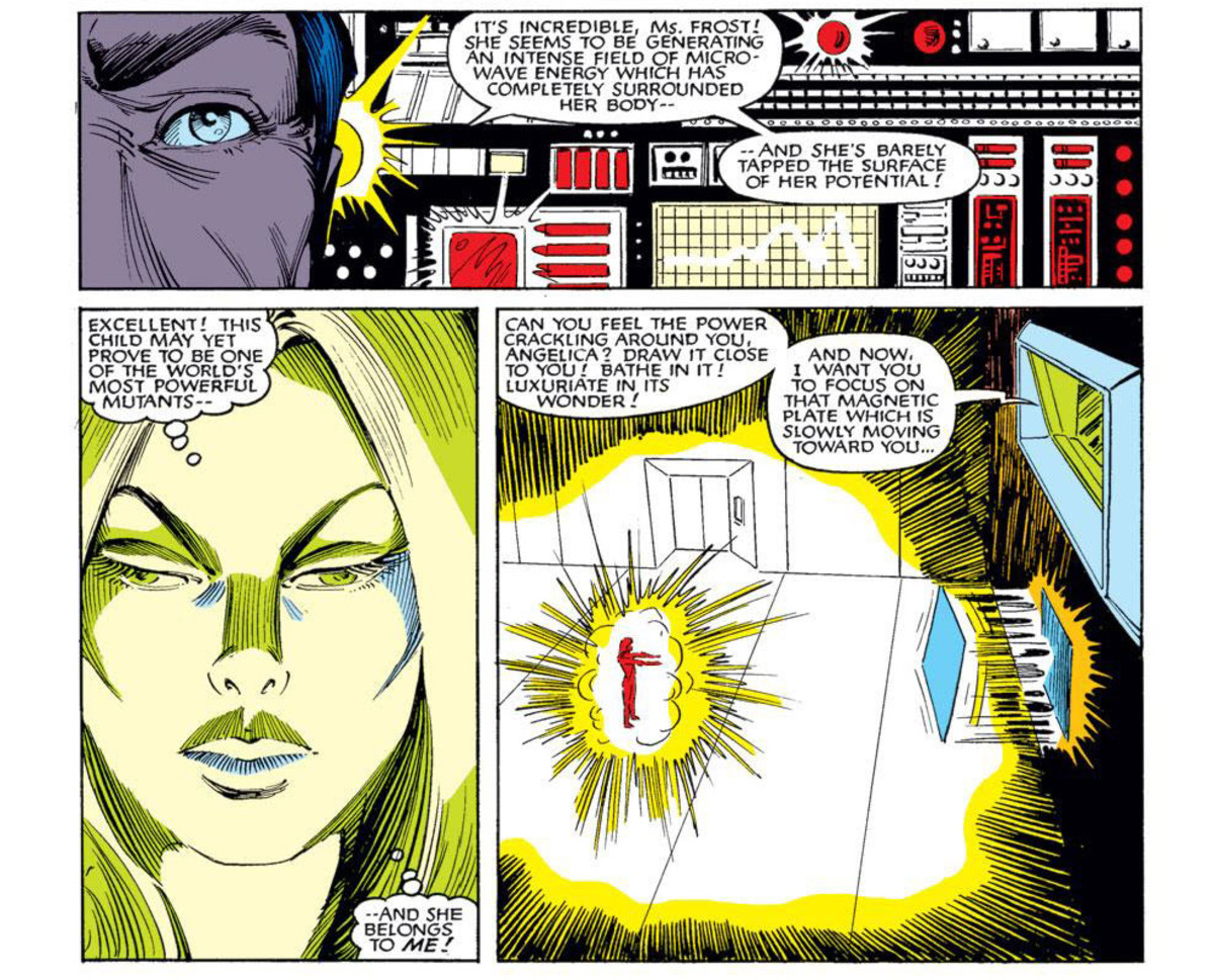 Panels from issue #2 of Firestar limited comic book series. Microwaves as Firestar's base power is reconfirmed.