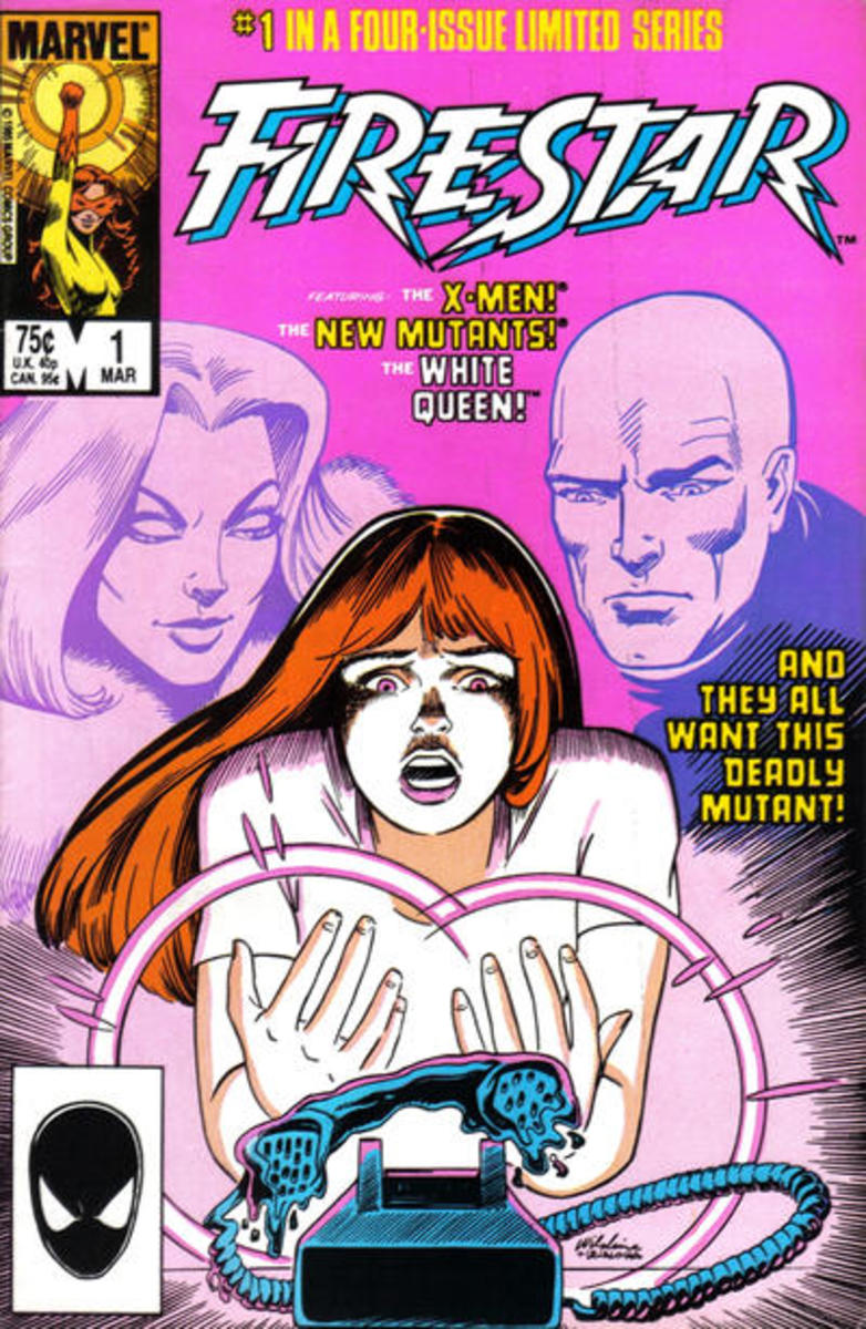 Firestar #1 of 4 issue limited series. This is a Direct Market Edition. There are Newsstand Editions of this comic and Canadian Type 1A Price Variants.