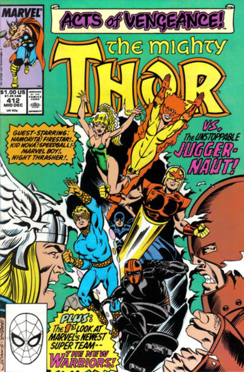 Thor #412 - First Full Appearance and 1st Cover of New Warriors.