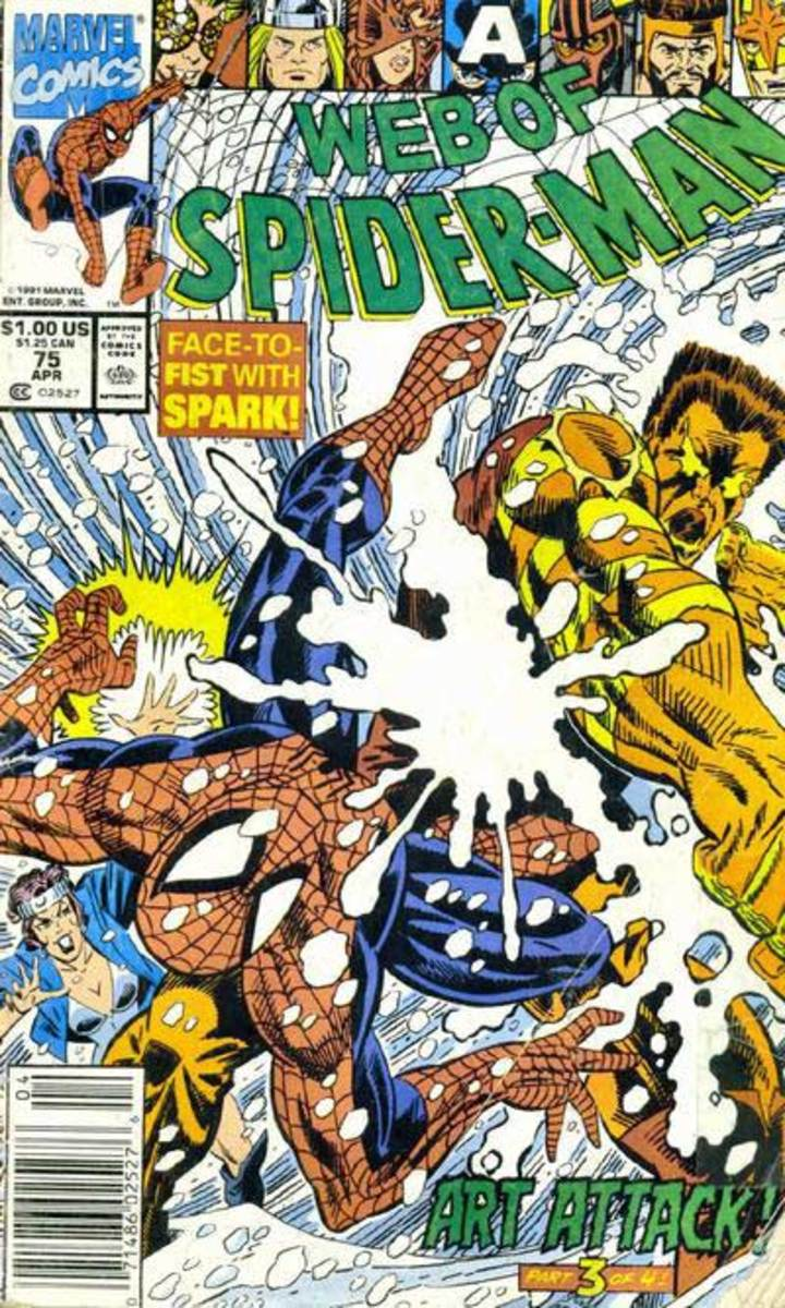 Cover to Web of Spider-Man #75