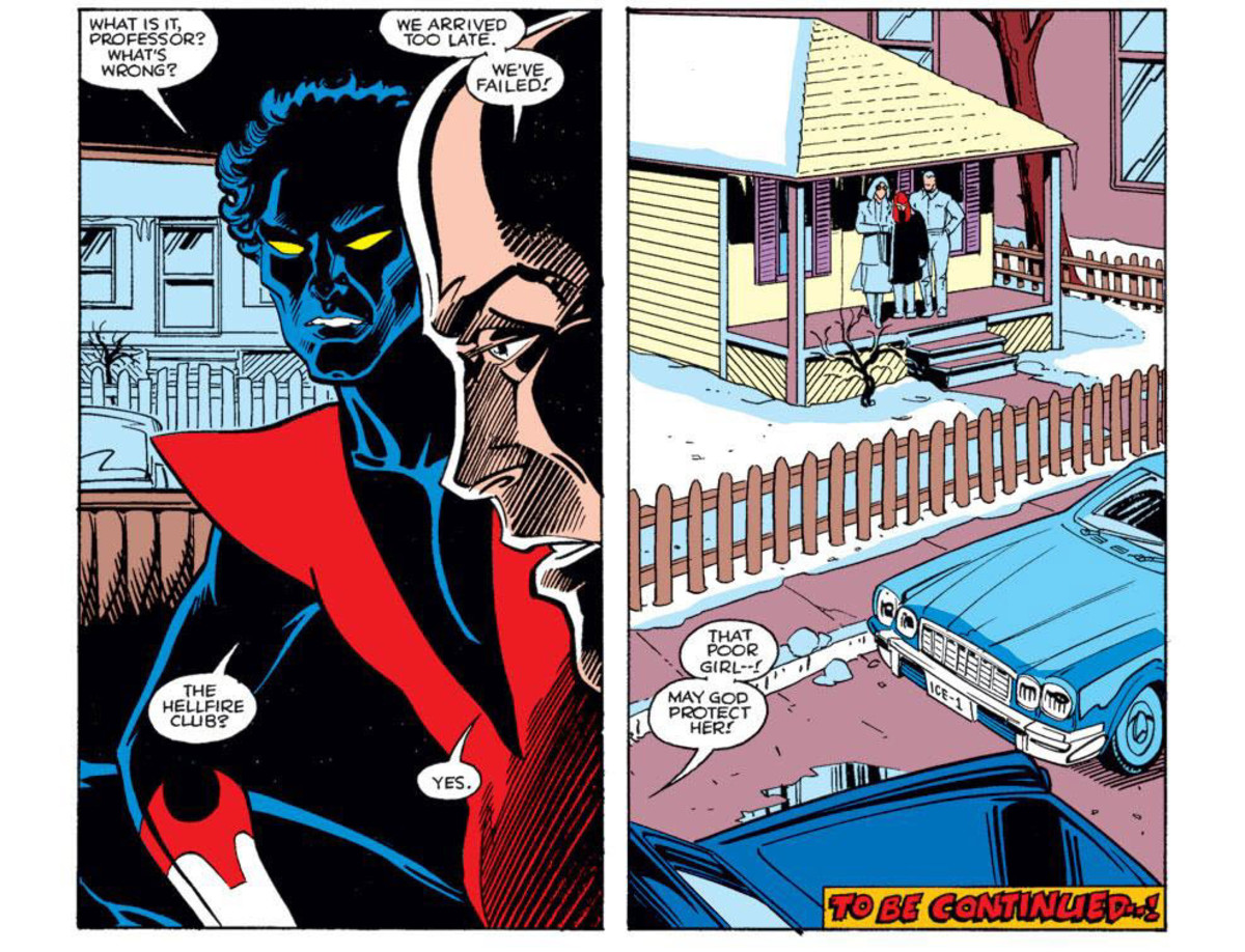 Emma Frost beats Professor Xavier and the X-Men in finding young Angelica Jones first. End of Firestar #1.