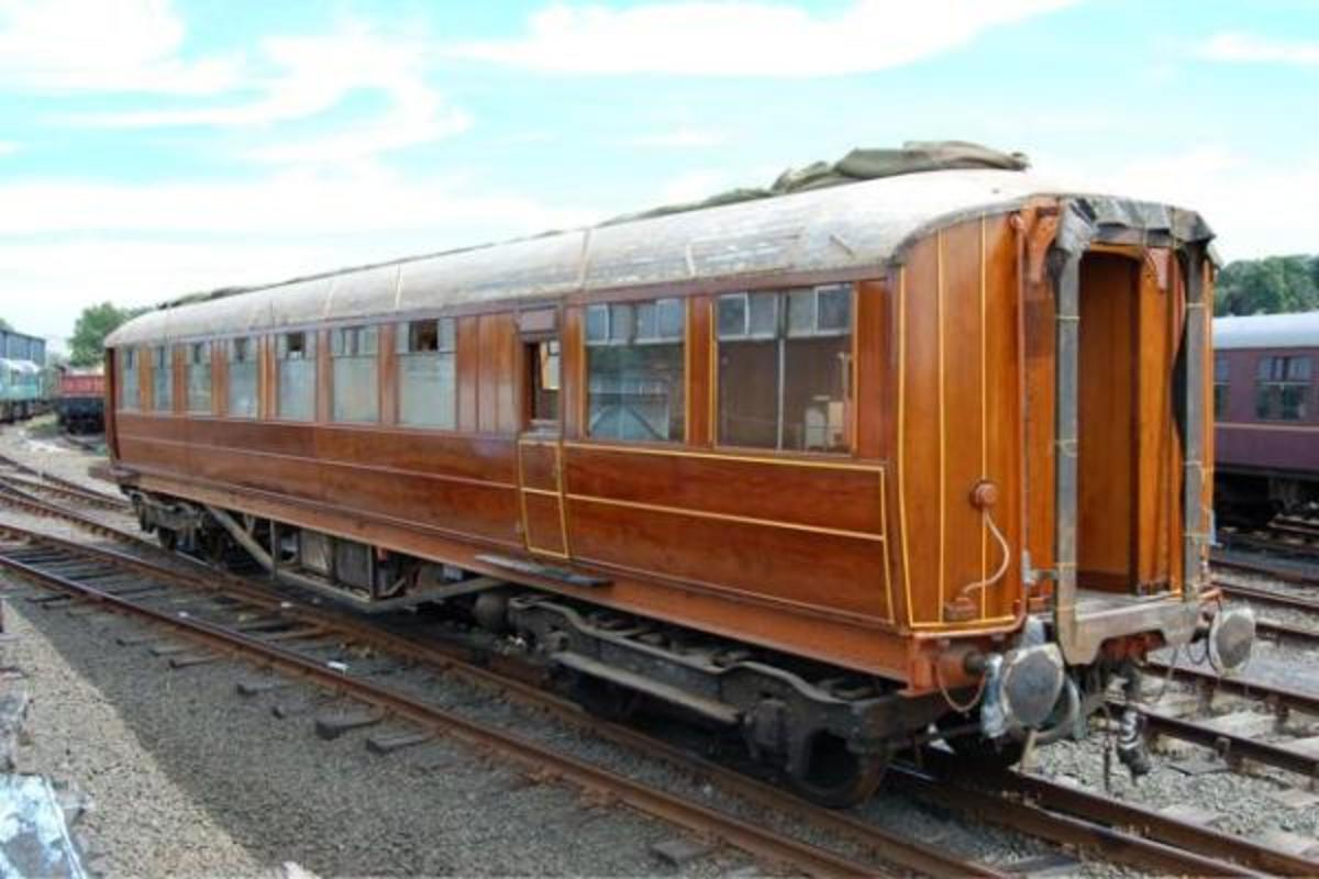 Buffet Car No. 644, another LNERCA project, in service on through NYMR Pickering-Whitby trains with a trolley service to serve passengers in their seats