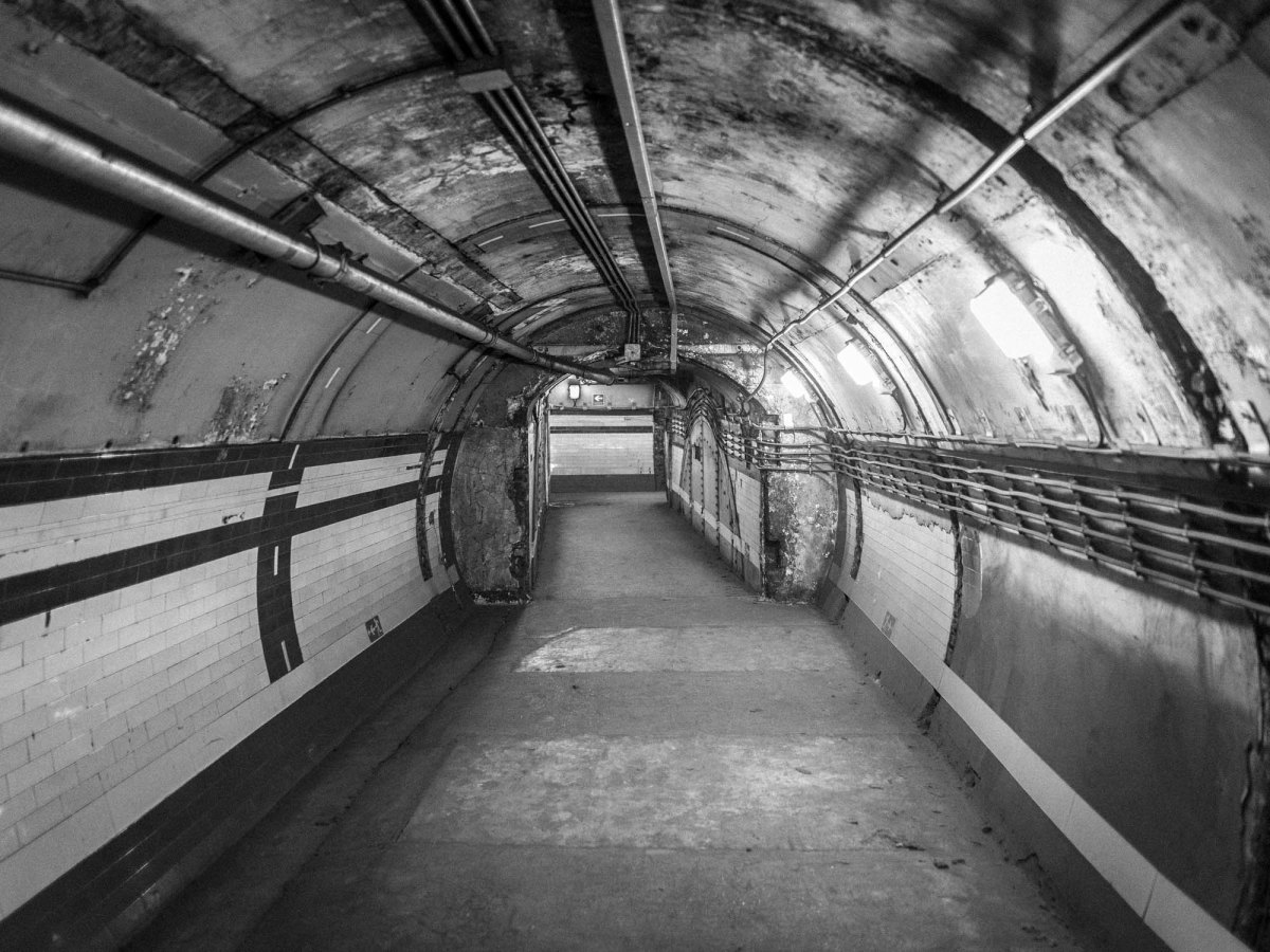 Down Street Underground, the passages behind the disused station that led to the REC Committee Room and ancillary offices