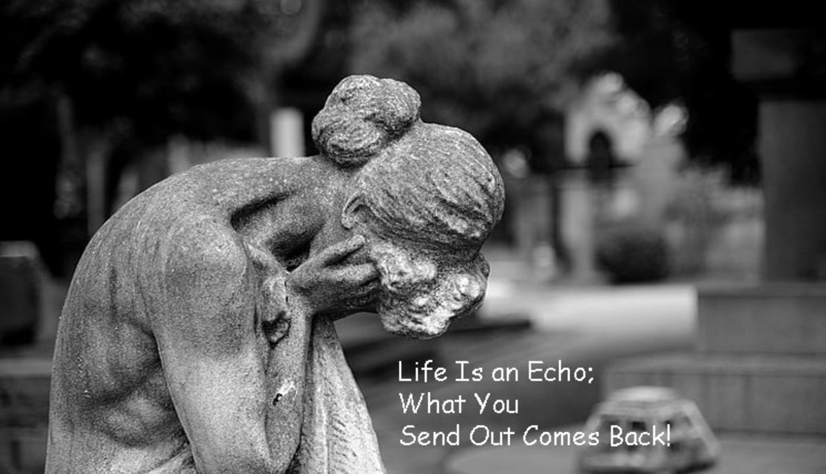 life-is-an-echo-what-you-send-out-comes-back