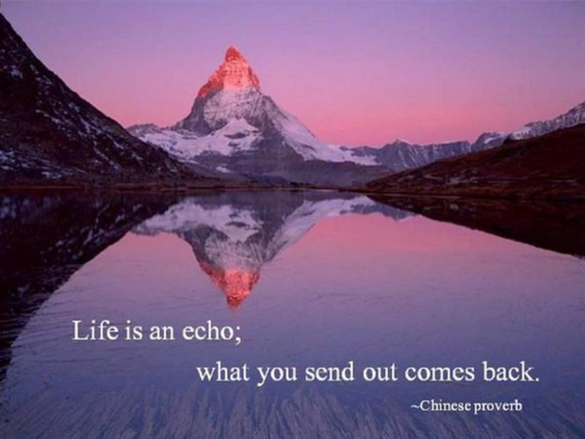 Life Is An Echo; What You Send Out Comes Back!