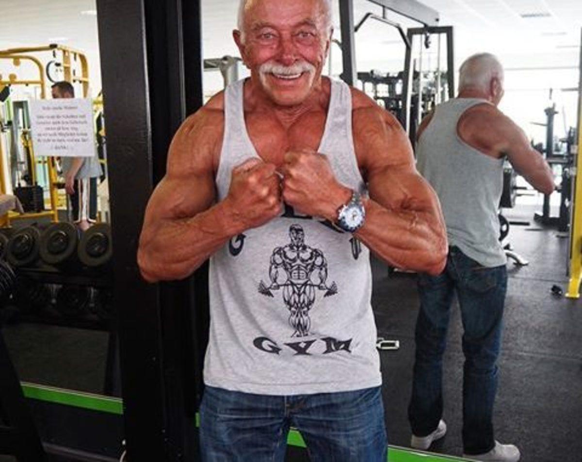 Heinz Werner Bongard is a 72 year old German bodybuilding champion.