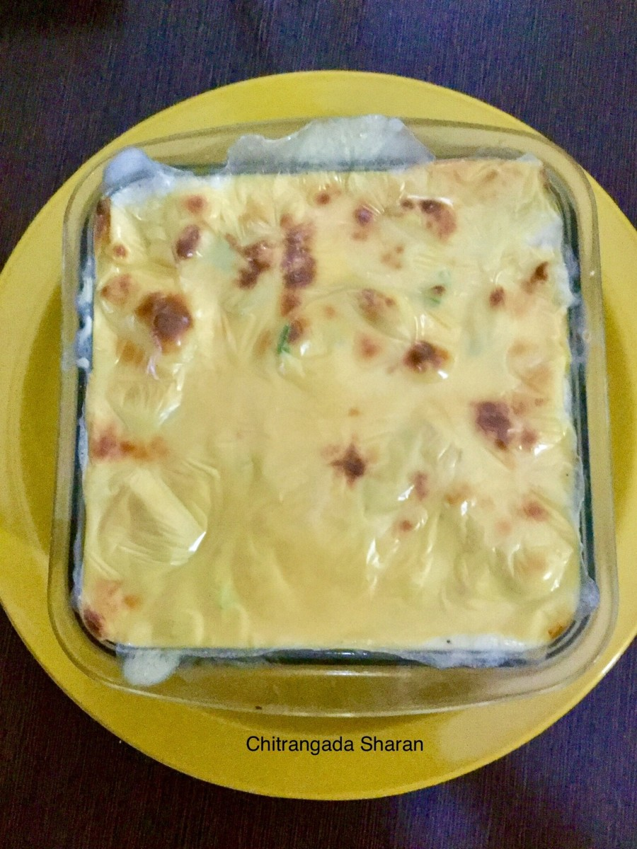Winter season recipe suggestions: Baked vegetables in white sauce, with cheese topping