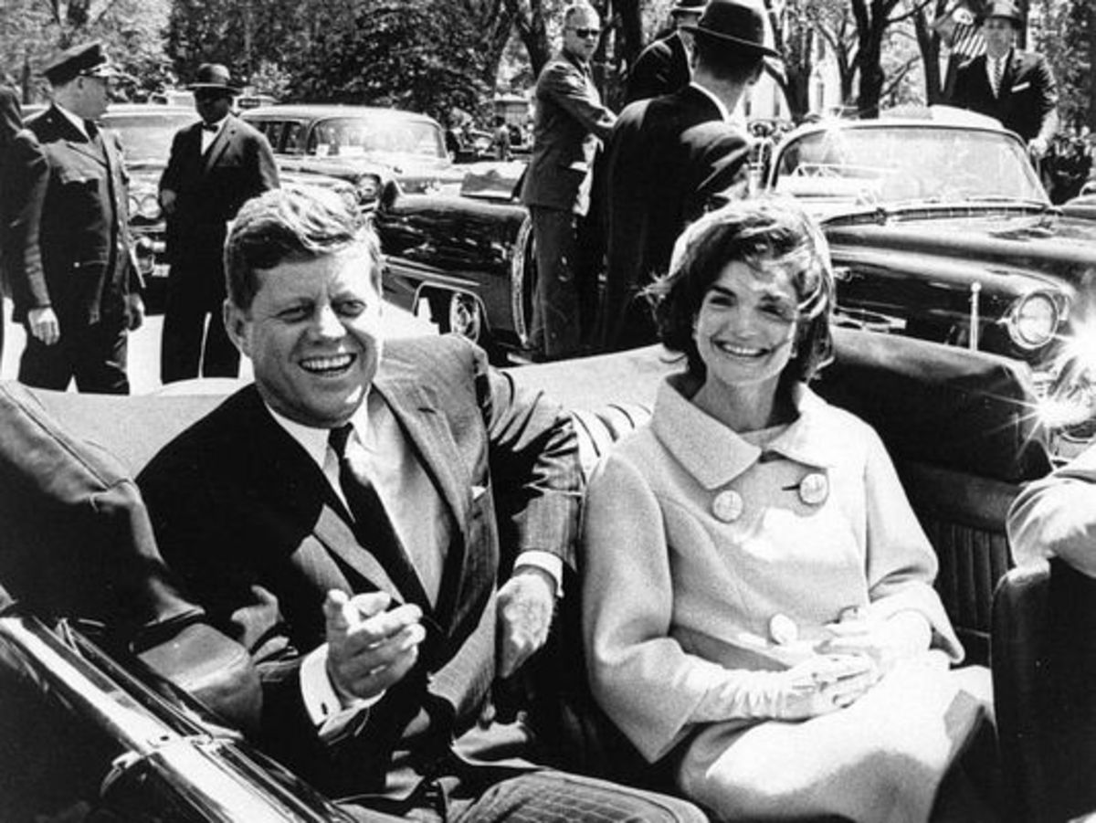 John F Kennedy and his wife, Nellie
