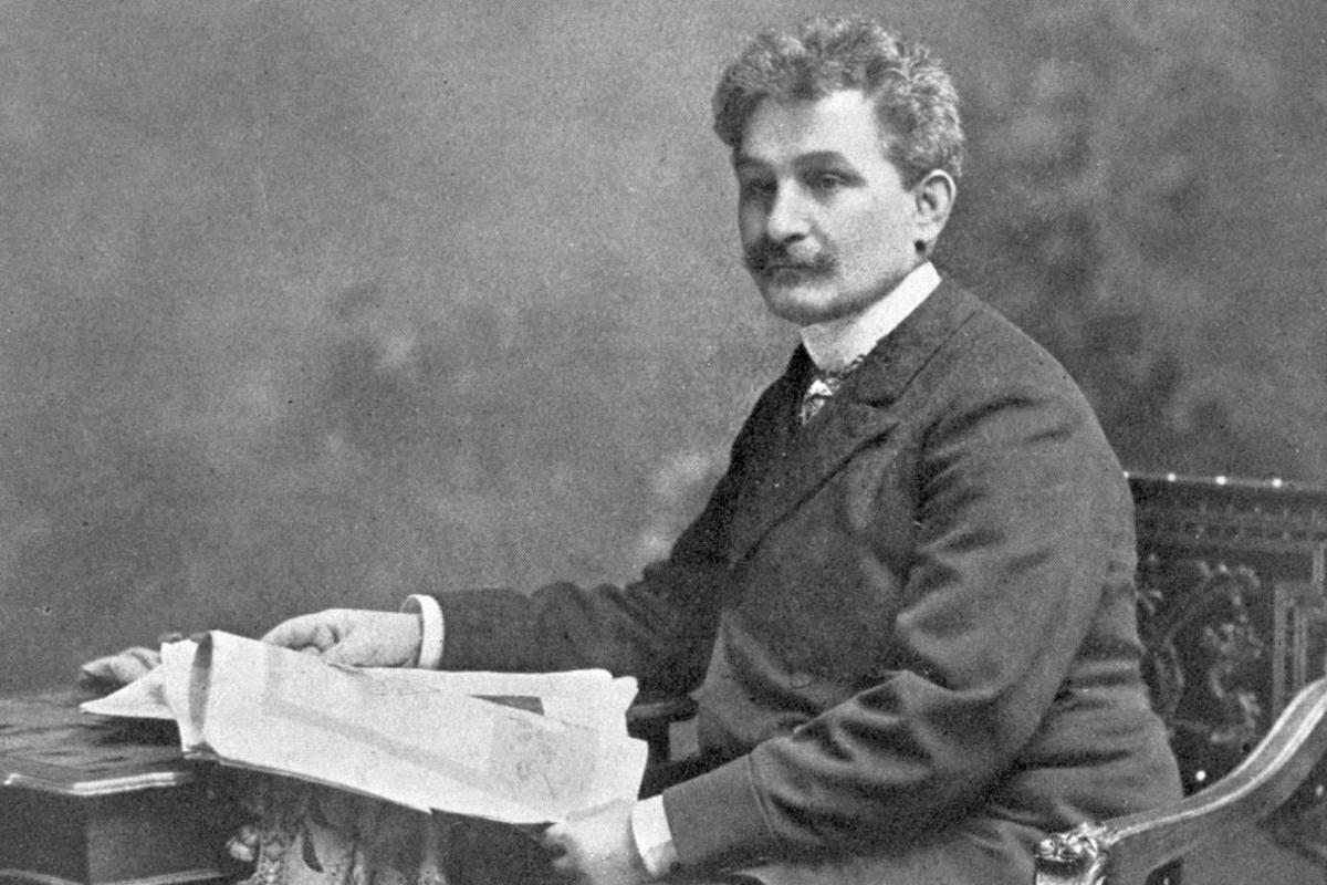 Photograph of Janacek c1890.