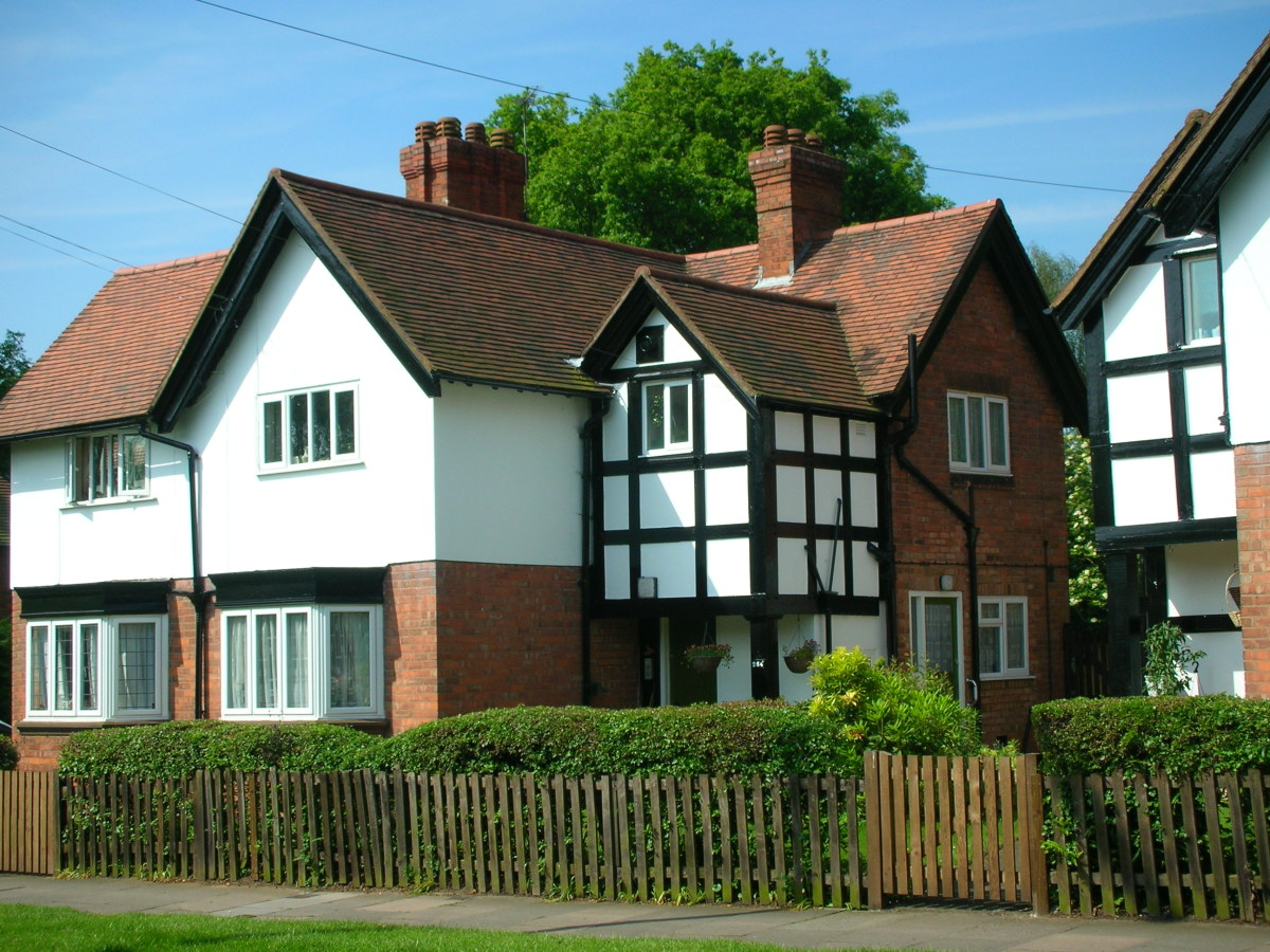 A photo of 264 Wake Green Road, the childhood home of J.R.R. Tolkien. Sarehole Mill is literally on the other side of the road and Moseley Bog is at the bottom of the garden.