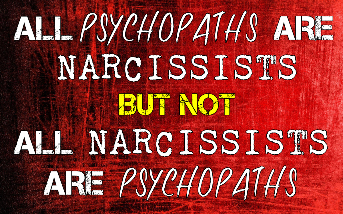 All Psychopaths Are Narcissists - But Not All Narcissists Are Psychopaths