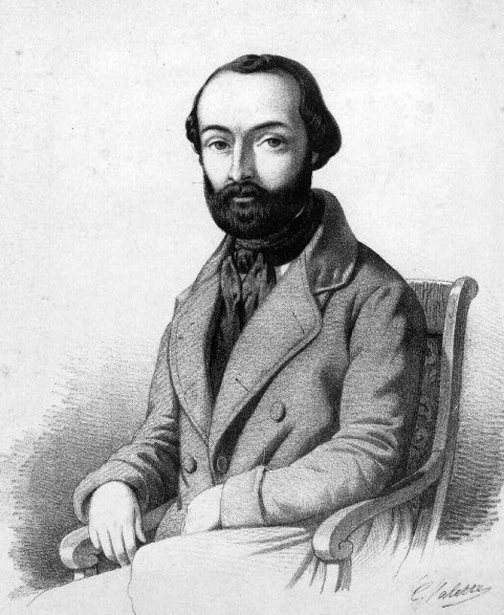 Drawing of Bazzini c1850.