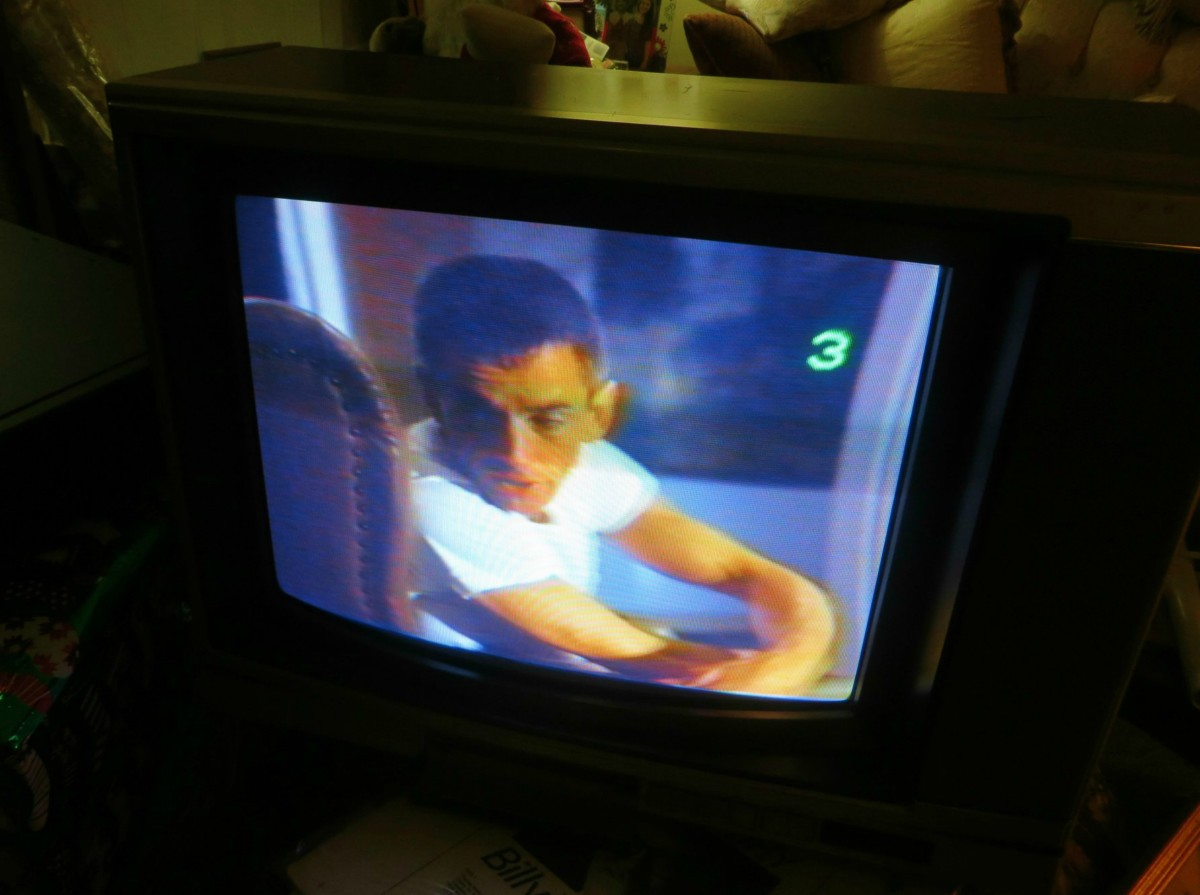 "It is very exciting to see an old VHS tape start to play on an analog television. There are so many wonderful memories that start to well up and ones mind. This old VHS tape of ""The Right Stuff"" was on the floor of a very dank shed for over six years"