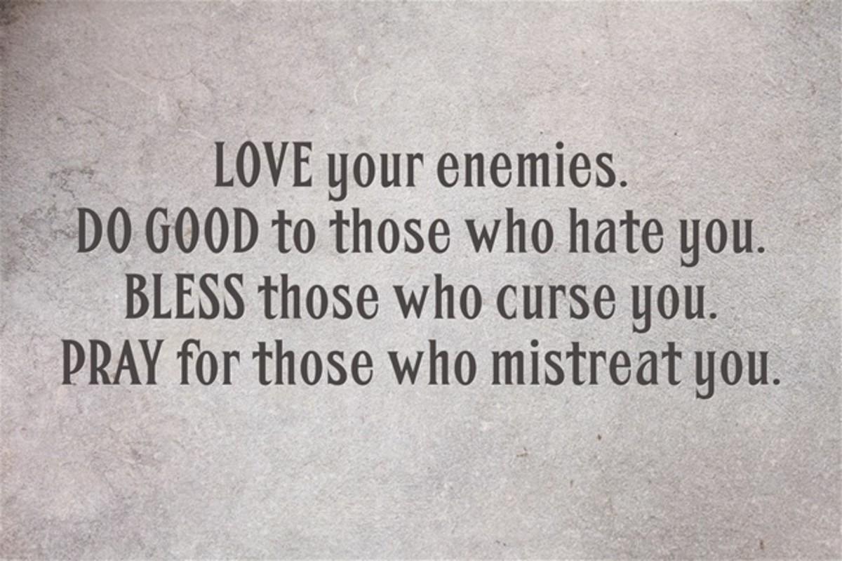 Matthew 5:44.