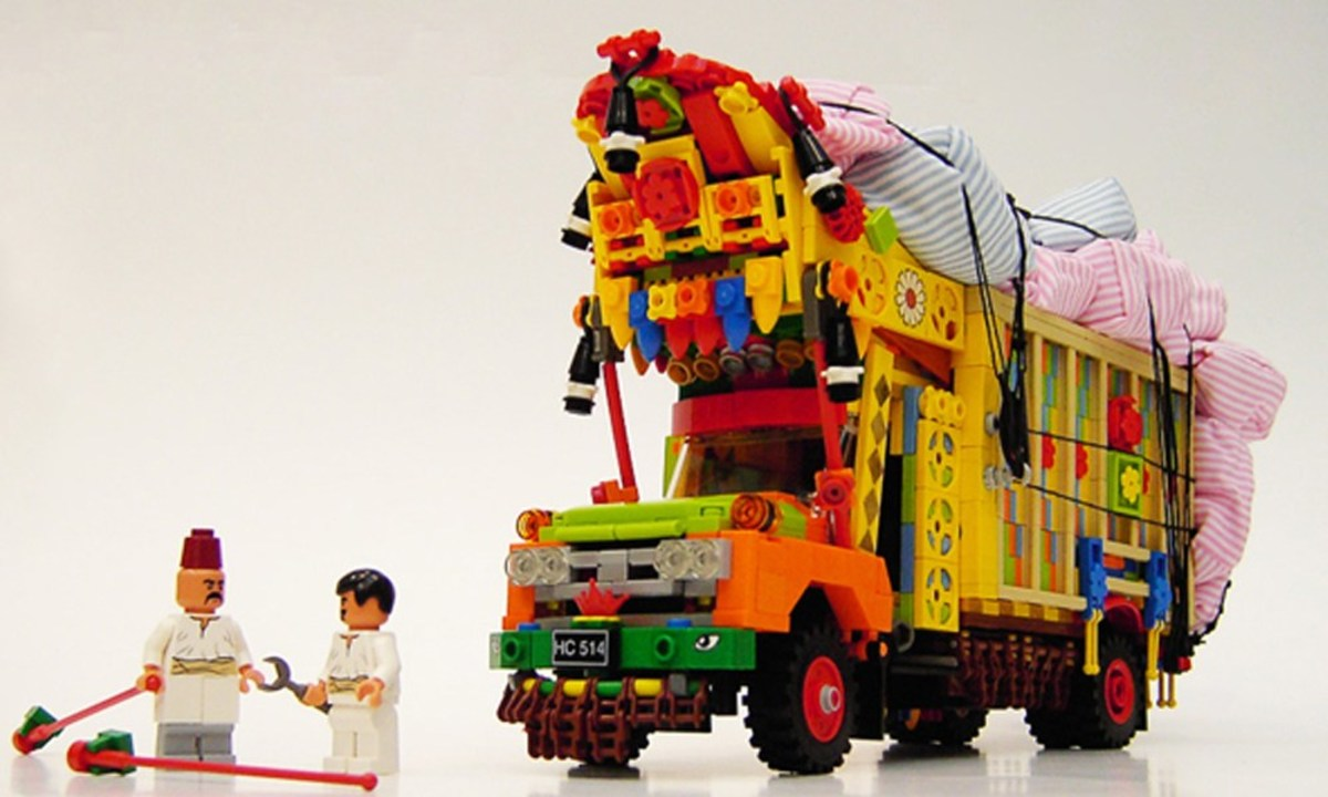 Danish artist, Adam Grabowski, created this stunningly colorful LEGO truck and displayed it at the exhibition specifically named ISUZU.