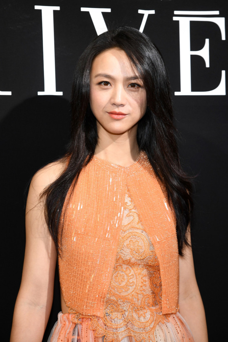 Japanese fashion model Nanao is seen here at an event for Giorgio Armani in Paris, France on July 4, 2017.