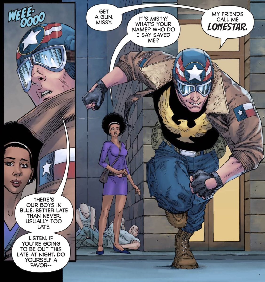 """This a page from Mike S Miller's comic """"Lone Star: Heart of a Hero"""" ...guys, it's called """"subtly"""" do you know it?!"""