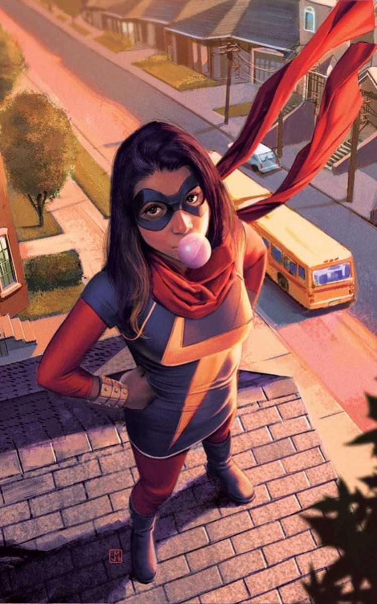 Kamala Khan AKA the New Ms. Marvel.