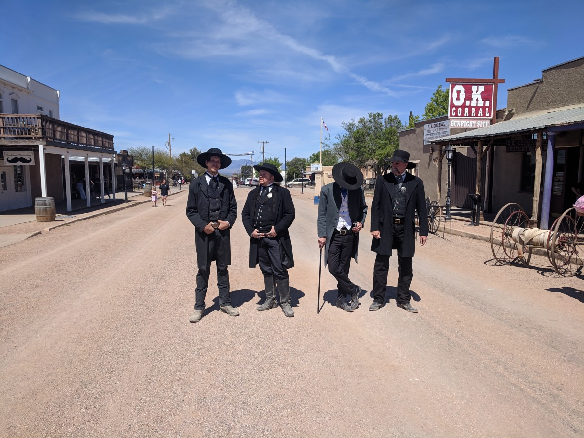 Reenactment of Shootout at OK Corral takes place at 11:00, Noon, 2:00 and 3:30 at the site in Tombstone where the fight took place