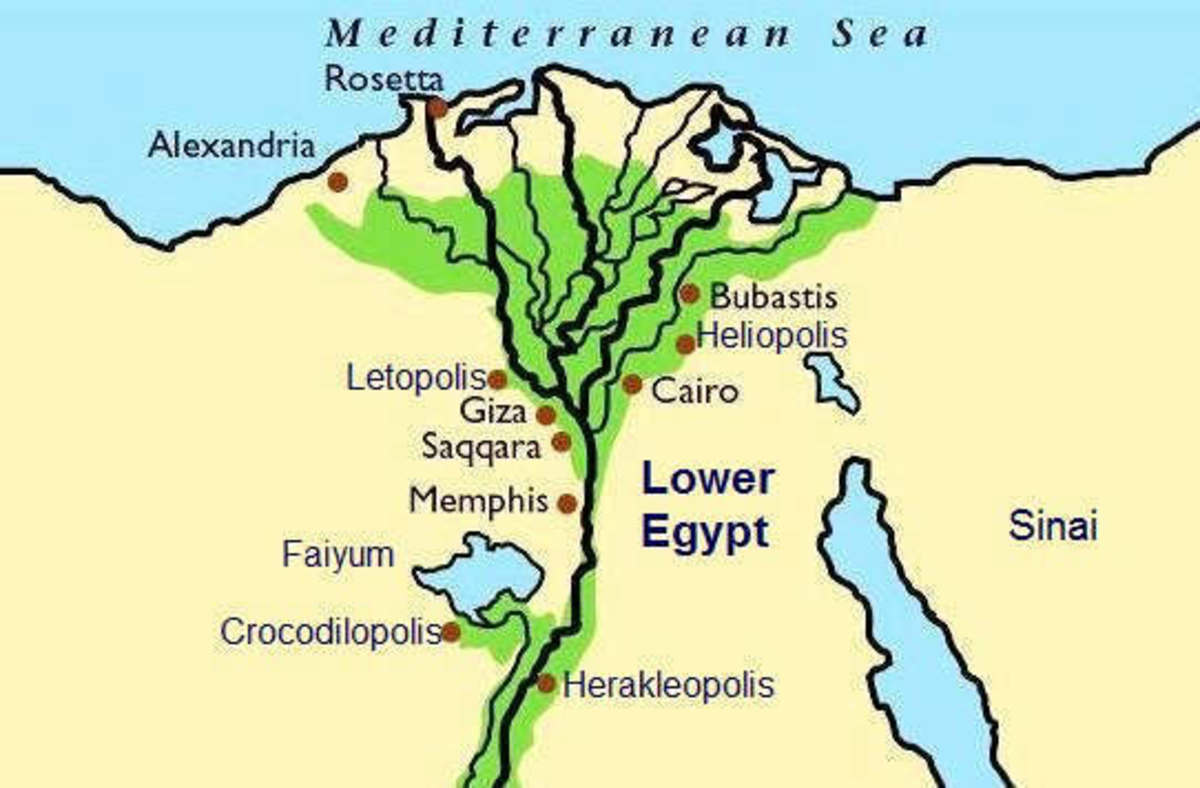 Map of Lower Egypt showing the City of Bubastis