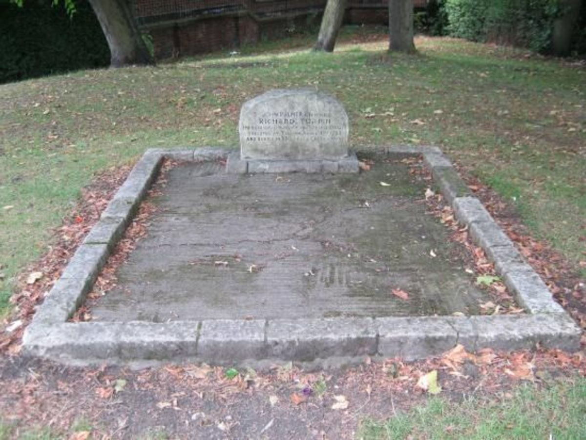 The site of Dick Turpin's grave (his alias was John Palmer when he was caught in possession of a stolen mare (Black Bess) and her foal from near Doncaster
