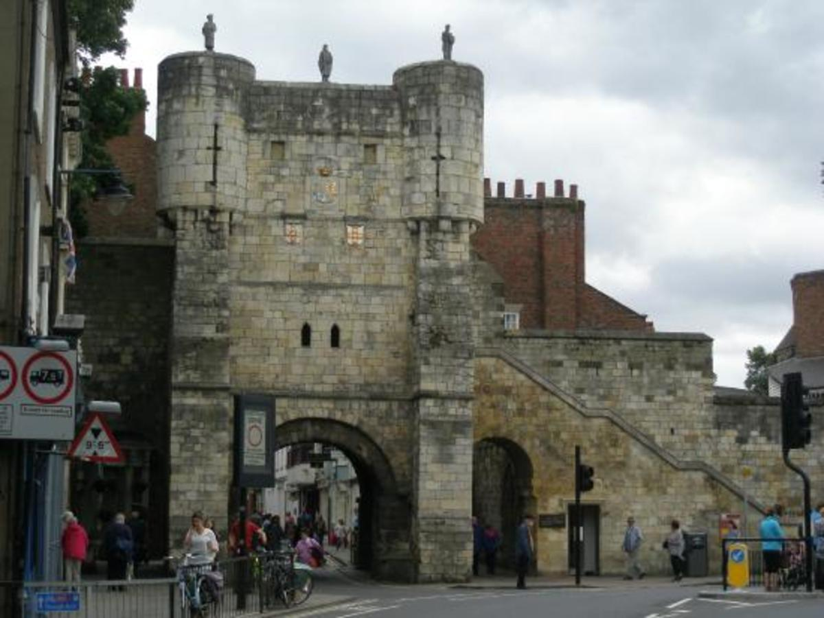 Bootham Bar, barred to the Scots in the Middle Ages more than oince