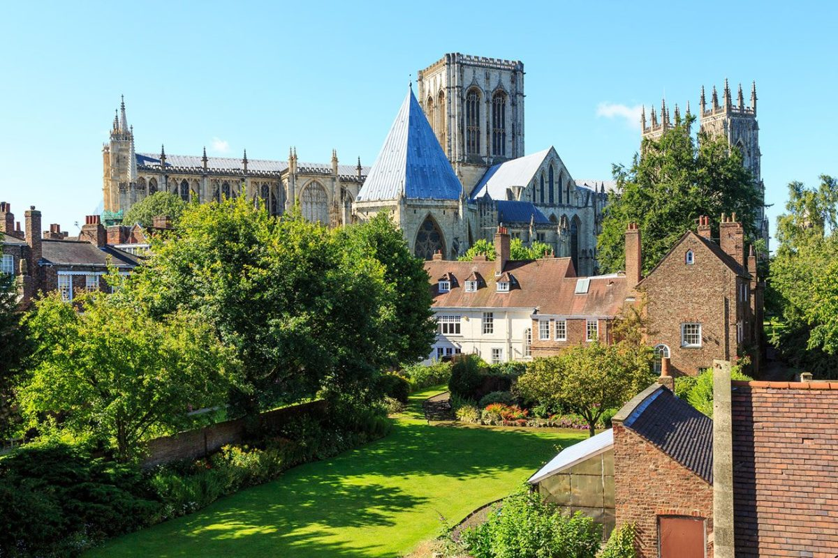 The cathedral of St Peter (aka 'the Minster') from the walls near Lord Mayor's Wall. Wherever you are within York, if you can see this 12th Century giant of a building you can't get lost.