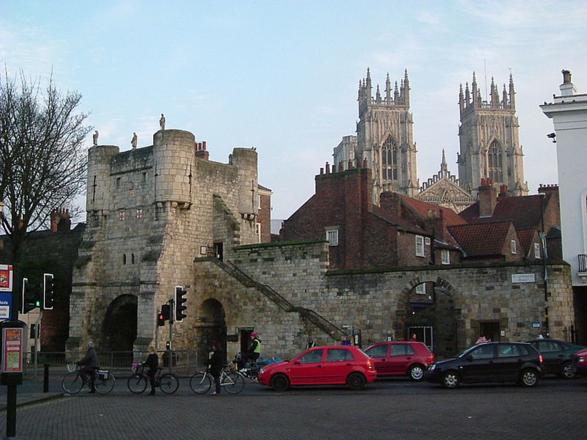 Bootham Bar from the outside, stumbling block for the Scots who tried more than once to take the city - see below, City Bars