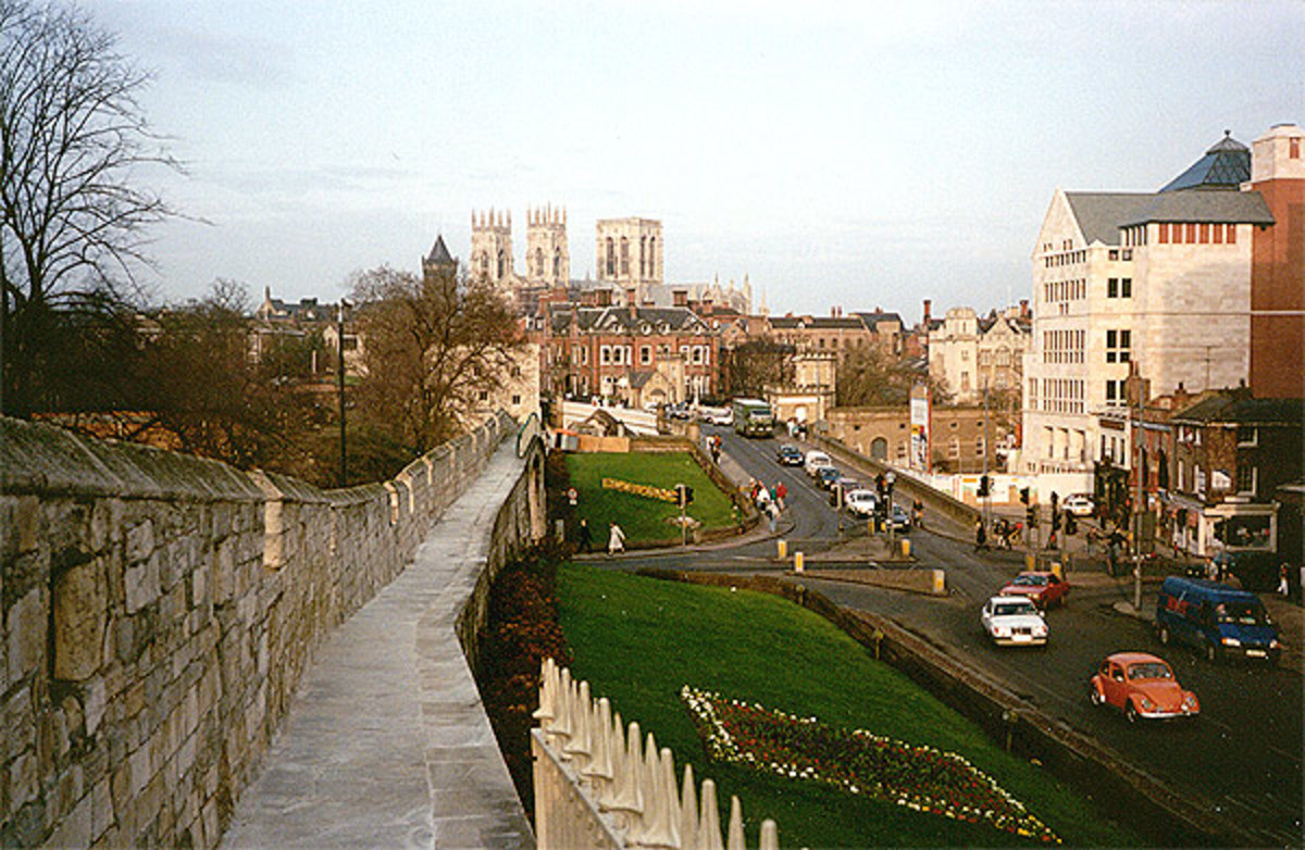 York's unmistakable skyline looking northward to Lendal Bridge and the cathedral of St Peter beyond - the 'Minster'