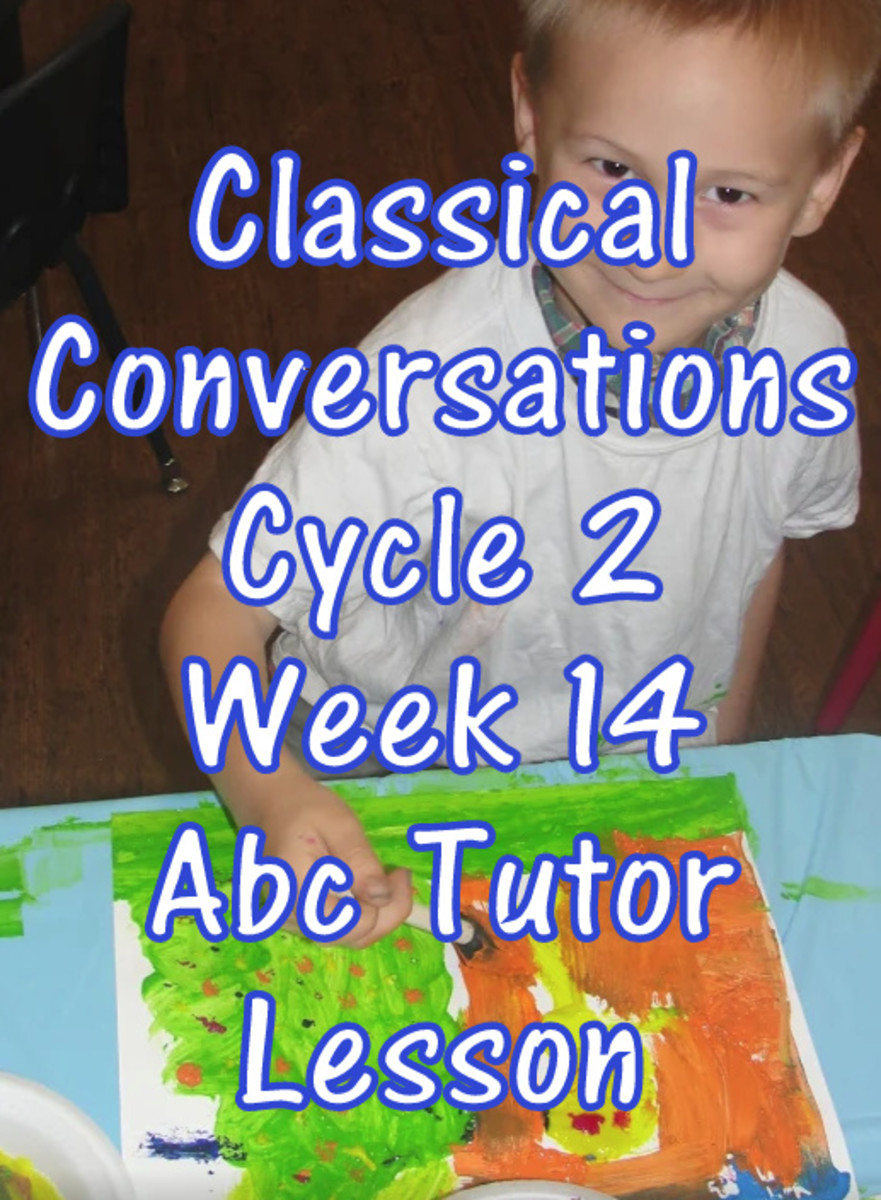 CC Classical Conversations Cycle 2 Week 14 Abc Tutor Lesson Plan