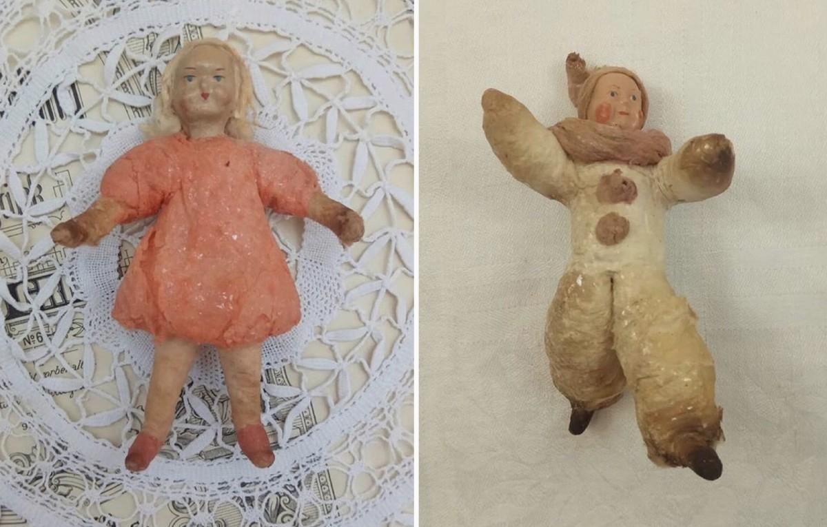 Real retro spun cotton toys (first half of the 20-th century)