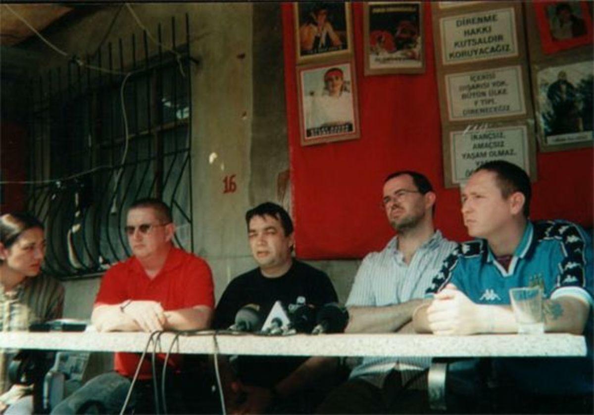 Irish delegation to Küçük Armutlu in Istanbul in September 2001 during the Turkish Hunger Strikes