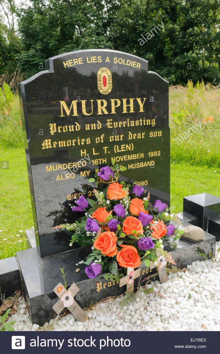 The grave of a sadistic serial killer but a hero to Loyalists