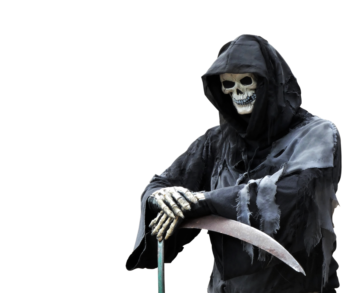 The Reaper is also a symbol of Witchery's music and there is even a song on this album called The Reaper.