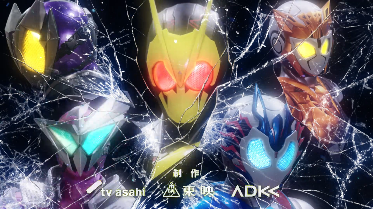 Zero-One stands in the middle as a main protagonist. To his left, the Anti-heroes, and to his right, the Antagonists. More details on this particular shot later