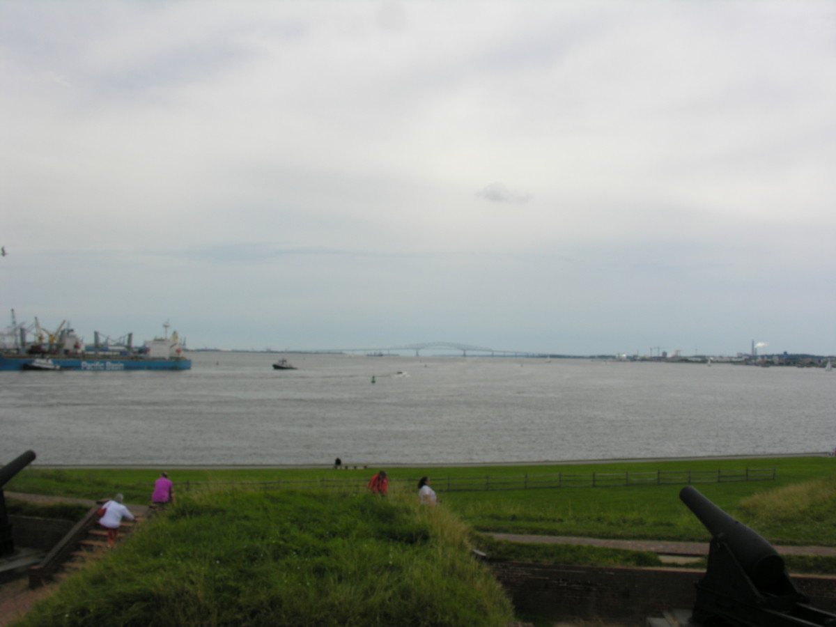 Baltimore Harbor from Fort McHenry.