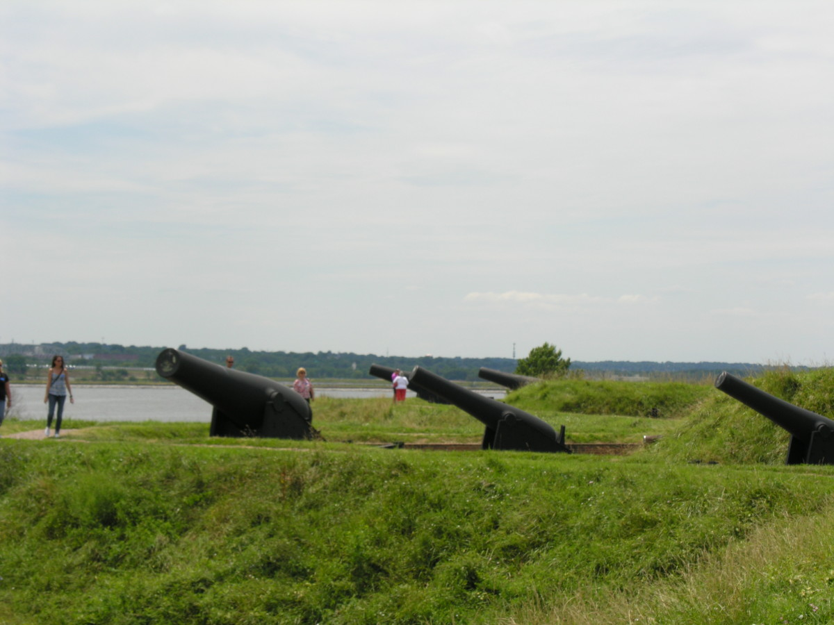 Gun batteries at Fort McHenry