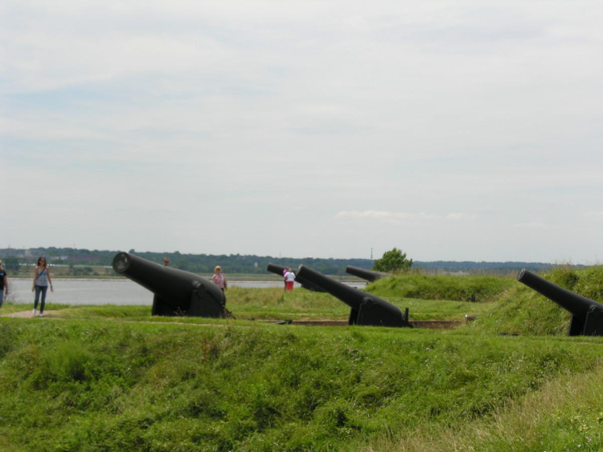 Gun batteries at Fort McHenry