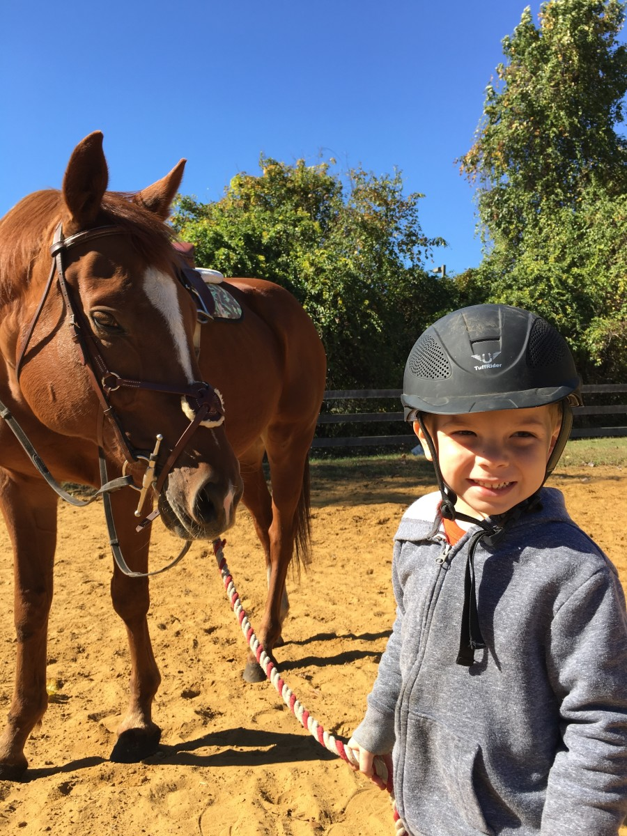 Riding you can only practice when you come to the barn and ride! Unlike other sports where you can kick the soccer ball or shoot hoops with the basketball at home.