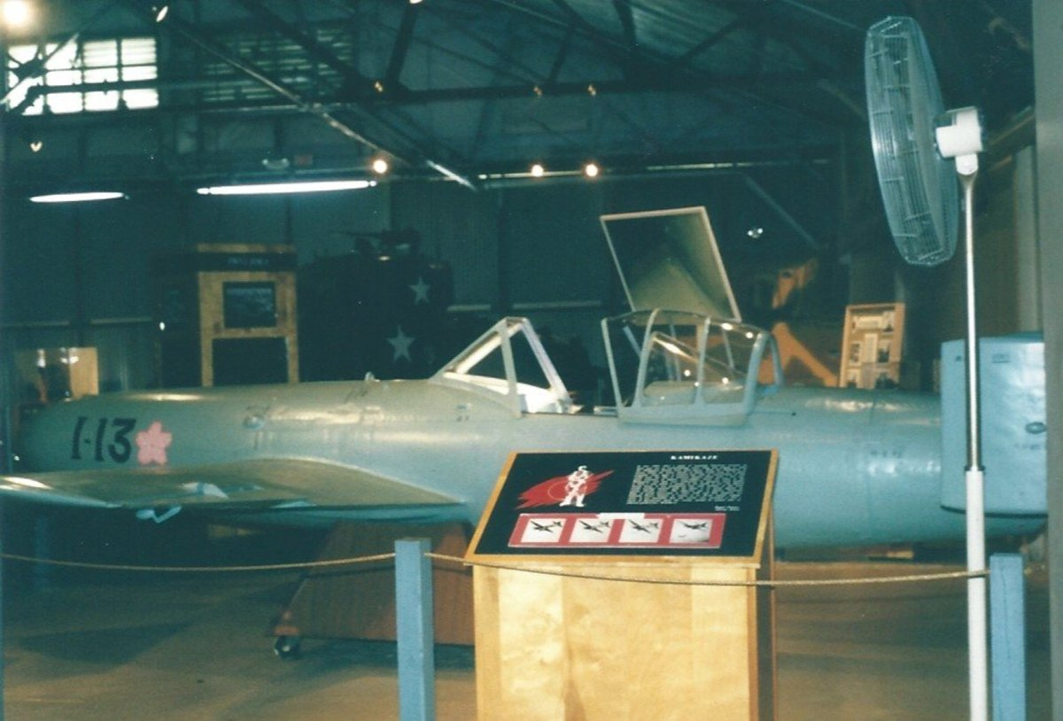 An Ohka on display at he Marine Air-Ground Museum circa 1990.