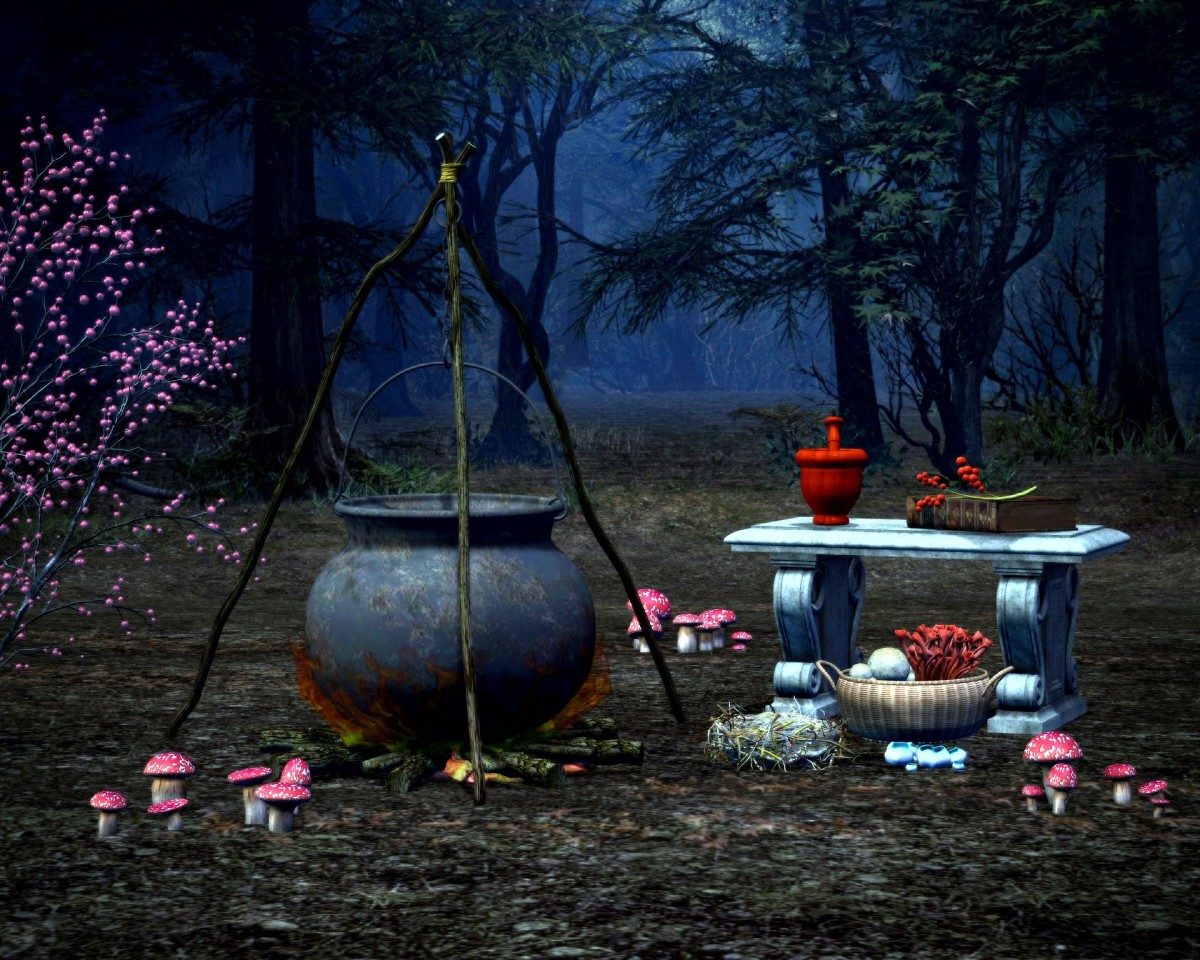 A witch's camp