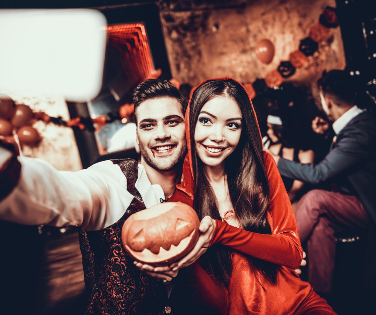 Having A Happy Halloween Party