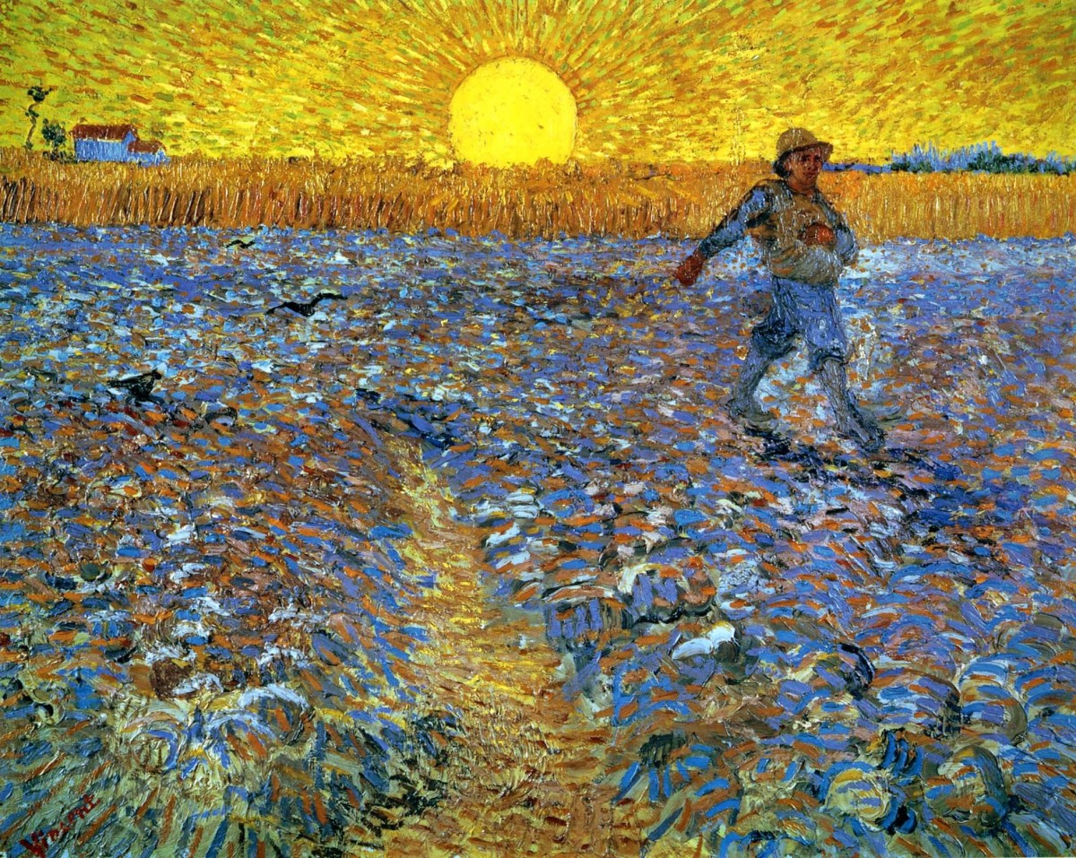 Sower with the Setting Sun by Vincent van Gogh, 1888.