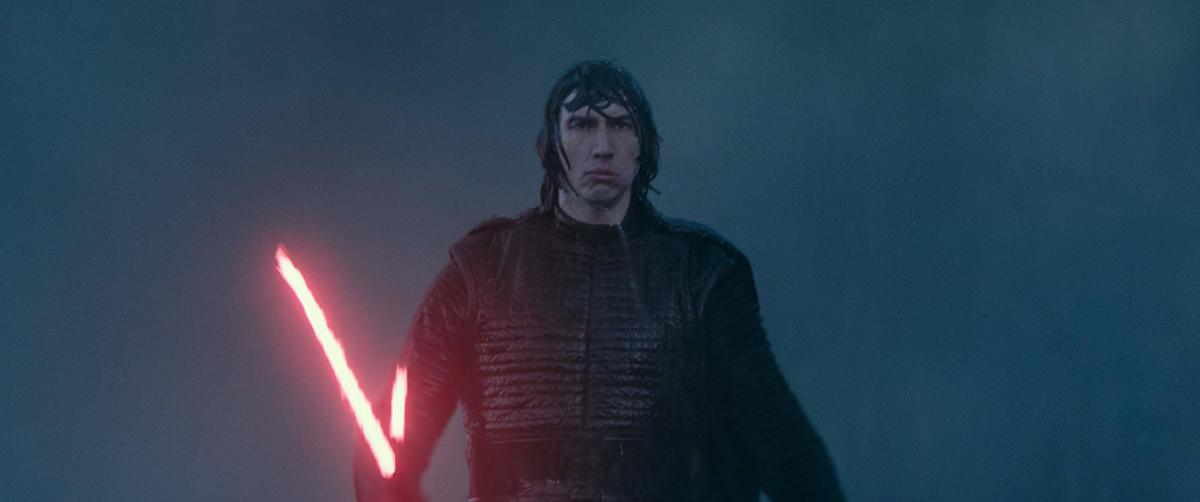Is that a lightsaber or is Kylo Ren just happy to--- Wait. He's never happy.
