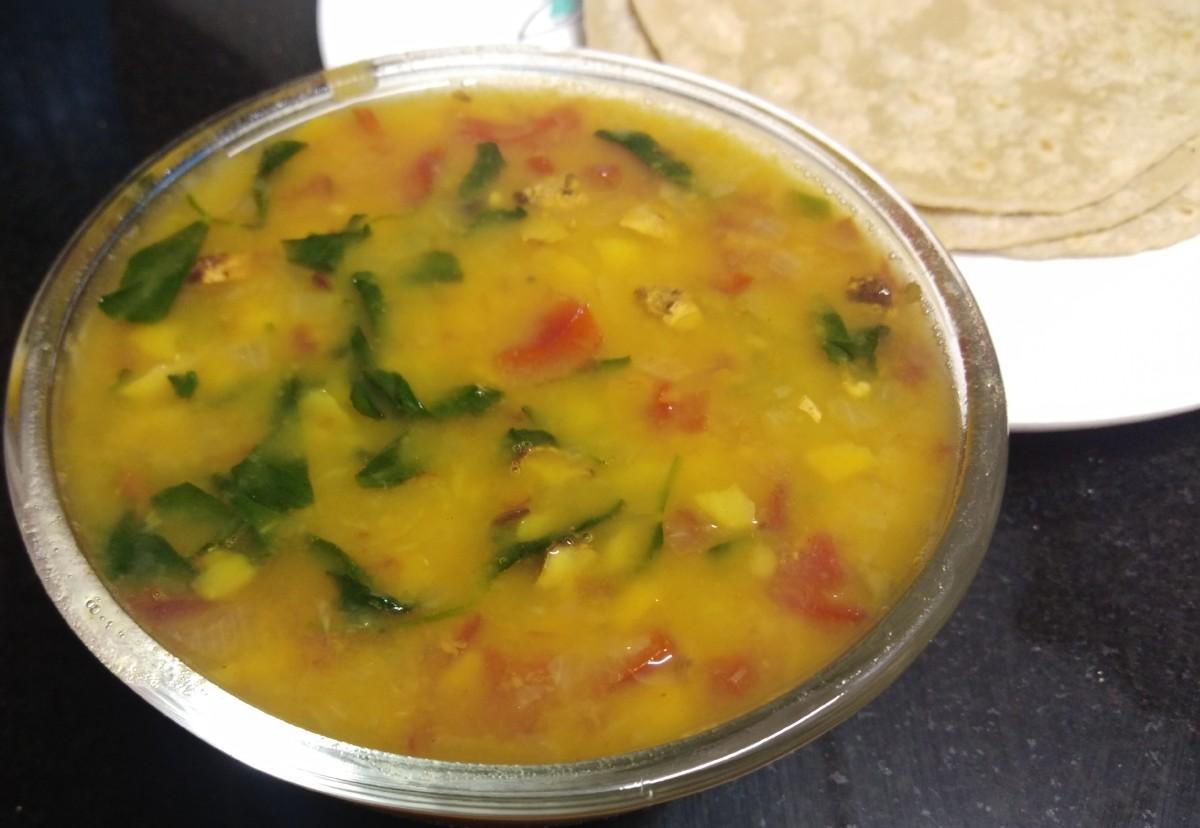 Lentils With Fresh Fenugreek Leaves or Methi Dal Recipe