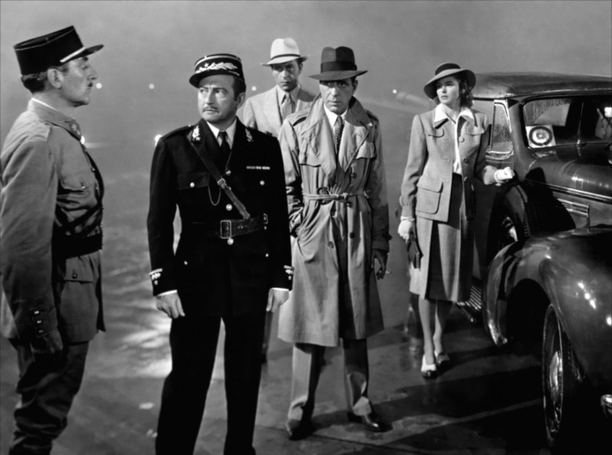 "Police captain Claude Rains has finally lost touch with sanity. ""Round up the usual suspects!"""